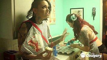 Amber Ivy Slides A Butt Plug Deep Inside Leigh Raven