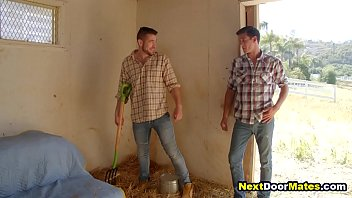 Gay Farmer Joins His Buddies For Bareback Threesome Gay Sex