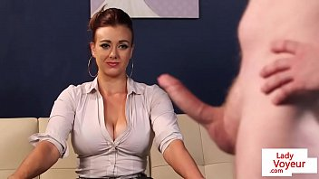 Busty CFNM office cougar gives JOI to sub guy porno izle