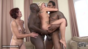 Feral minette face fucking Two mifls fuck two black guys swallow their cum after interracial sex