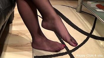 Mature stockinged feet Stepmom stockinged foot play