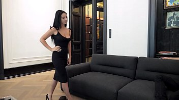 Sexy vip brunette escort Escort casting - dark hair big breast romanian nelly kent gets put on leash