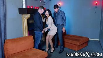 MARISKAX Mariska gets double stuffed and savors the cum