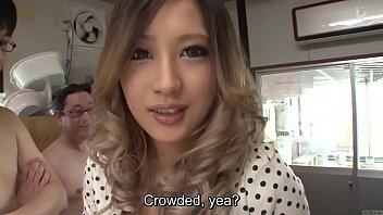 Subtitled Japanese AV star and gyaru AIKA blowjob party thumbnail