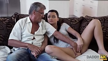 DADDY4K. The old man satisfies the sexual needs of his son's girlfriend 10 min