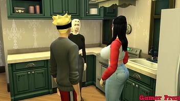 Familia Pervertida Cap 2 Boruto y sarada hablando con tsunade para ver si quiere hacer con ellos un trio ala final sale todo mejor mucha leche dentro de ellas