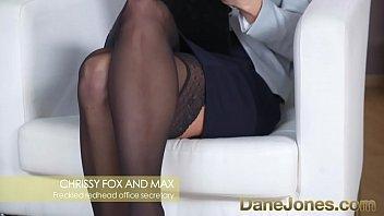 Dane Jones Redhead office secretary in stockings and heels g