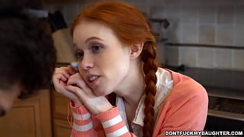 DON'T FUCK MY DAUGHTER - Redhead Teen Dolly Little Seduces Her Big Dick Tutor 11 min