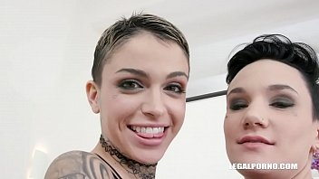 Leigh Raven & Nikki Hearts - first time play with real lesbian couple IV258
