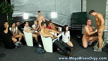 Bi group orgy rimjob blowjob