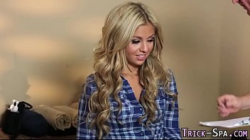 Blonde babe gets fucked