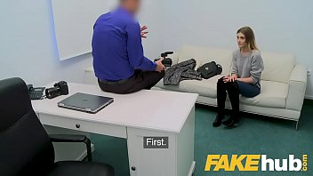Fake Agent Skinny petite model loves sucking big cock in casting 8 min