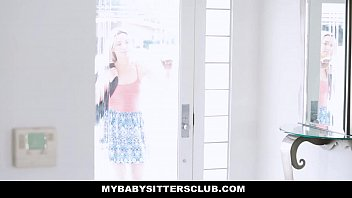 MyBabySittersClub - Caught the Babysitter (Zoe Parker) Touching My Cock 11 min