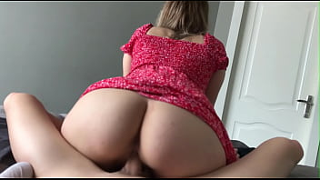 My Roommate Seduced Me With Her Short Dress And Jumped On My Cock