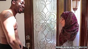Arab teen Nadia Ali destroyed with big ebony cock thumbnail