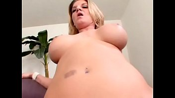 Well-padded blonde milf with big bazookas Kayla Quinn likes when younger fellow streches her cunt with his big rod