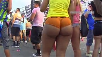 Amazing Black Ass Dancing in a Festival