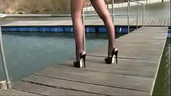 Mom in heels Stockings Flashing. See pt2 at goddessheelsonline.co.uk thumbnail