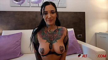Busty tattooed Adel Asanti has her holes stretched wide
