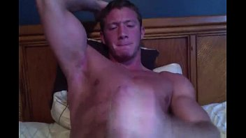 Hot Muscular Hunk Wanks And Has A Big Cum Blast