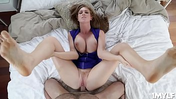 Stud sticks his meat inside Ivy Secrets MILF cunt and thrusts until he is ready to spray his cum