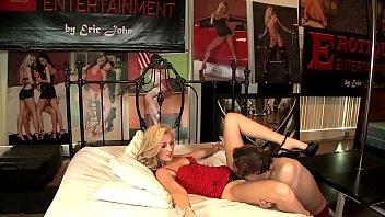 Godlike blonde Emily Kae loves working with big cock