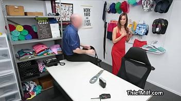 Suburban thief Asian wife deep throats officer