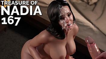 TREASURE OF NADIA #167 • Covering Pricias face in cum
