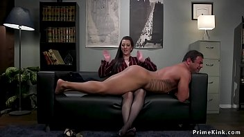 Muscle domination slaves - Busty domme sits on face of assistant