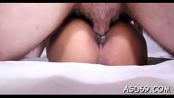 Taut thai babe fondles herself