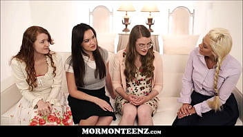 Four Mormon Teen Sister Wives Orgasm Together After Prayer