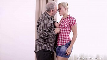 Old Goes Young - Elena can't believe how good this old man is at having sex thumbnail