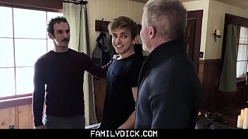 FamilyDick - Stepdad And Step Grandpa Spitroast A Horny Twink