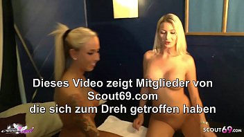►► Amateur FFM Threesome of German Teen with Girlfriend and Stranger Guy at College Party ◄◄ 6 min
