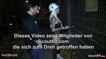 Fit German Teen No Condom Fuck by Stranger Outdoor and Car 6 min
