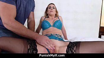 Step Mom Cherie Deville Busted Cheating Tied Out and Fucked