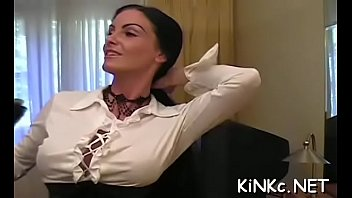 Large knockers and taut pussy make hot fuck combination