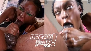 Head to Head Competition Trixxie vs Uniquee in Sloppy Throat Fucking thumbnail