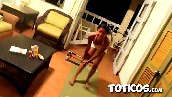 Super Flexible 18yo black teen walks on her hands like a monkey. Spanglish speaking ebony hottie sucks black cock and gets fucked doggystyle in Sosua Dominican Republic on Toticos.com