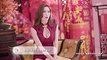 公众号【是小喵啦】JKF性感女郎艾比新年红旗袍诱惑