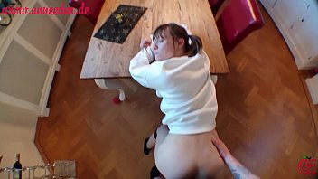 sweet german girl gets fucked through the whole apartement!