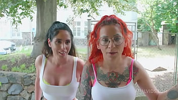 Anal casting for Linda del Sol and Natasha Ink 0% pussy DAP balls deep anal rimming piss cum swallow lesbo 5on2 BBC PAF019