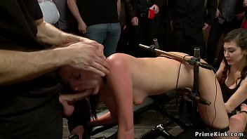 Voyeur videos submitted Redhead and blonde subs public banged