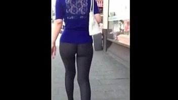 Sexy girls holes in pants - Awesome candid video girl in tight ass yoga pants 01