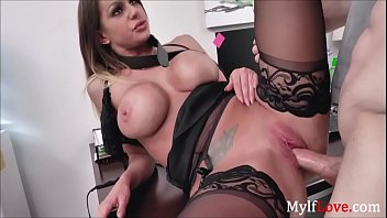 Boss Bends Milf & Gives Her His Cock Plus Promotion-Brooklyn Chase