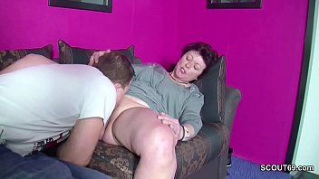 Son catches mom masturbating and gets to fuck her