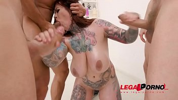 Busty bra anal Busty inked slut sabien demonia first time to gonzo with 4on1 airtight dp sz2461