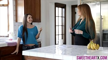Older chicks lesbian adventure with housemaid 6 min
