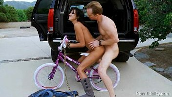 Spanked uggs - Hot bitch on a bike breanne benson rides cock in the back of ryans car