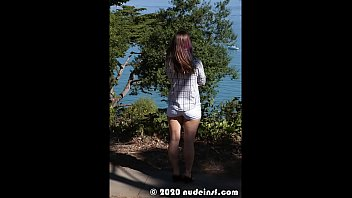 Nude in San Francisco: Slideshow of Sybil naked and spreading in public 5 min